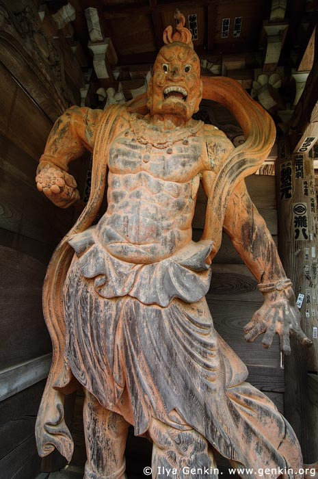 japan stock photography | Daisho-in Temple Guard (Nio), Daisho-in Temple, Miyajima, Honshu, Japan, Image ID JPMI0058