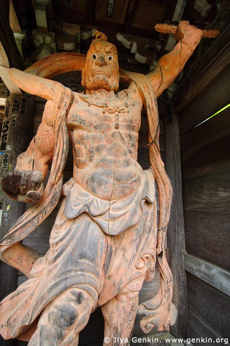 japan stock photography | Daisho-in Temple Guard (Nio), Daisho-in Temple, Miyajima, Honshu, Japan, Image ID JPMI0060