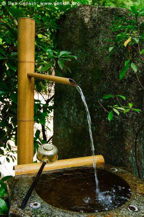 japan stock photography | Bamboo Purification Fountain, Daisho-in Temple, Miyajima, Honshu, Japan, Image ID JPMI0062