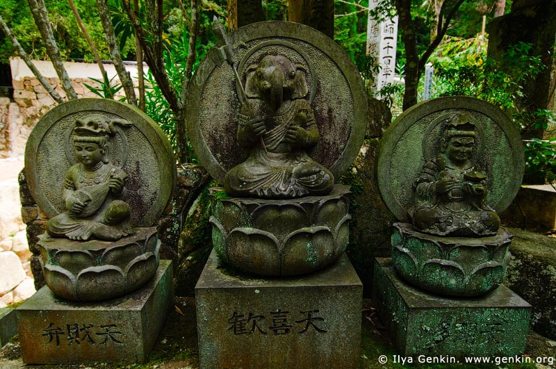 japan stock photography | Ganesh, Stone Sculpture, Daisho-in Temple, Miyajima, Honshu, Japan, Image ID JPMI0063