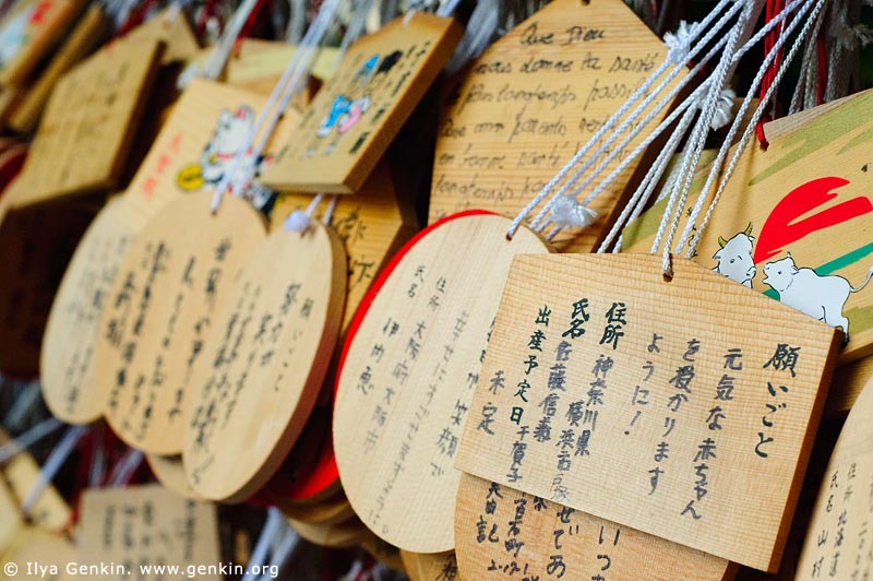 japan stock photography | Ema, Prayer Tablets, at Daisho-in Temple, Miyajima, Honshu, Japan, Image ID JPMI0068