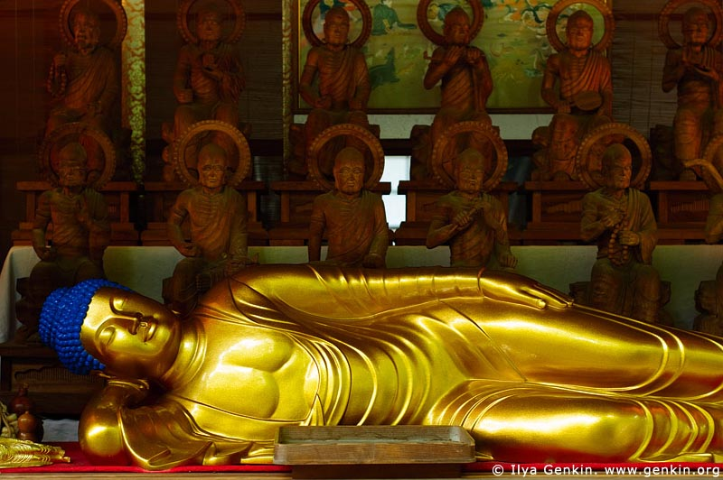 japan stock photography | Reclining Buddha, Daisho-in Temple, Miyajima, Honshu, Japan, Image ID JPMI0073