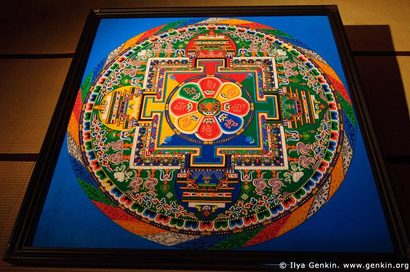 japan stock photography | Sand Mandala Inside the Hondo, Main Hall, Daisho-in Temple, Miyajima, Honshu, Japan, Image ID JPMI0085