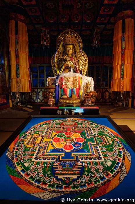 japan stock photography | Sand Mandala Inside the Hondo, Main Hall, Daisho-in Temple, Miyajima, Honshu, Japan, Image ID JPMI0086