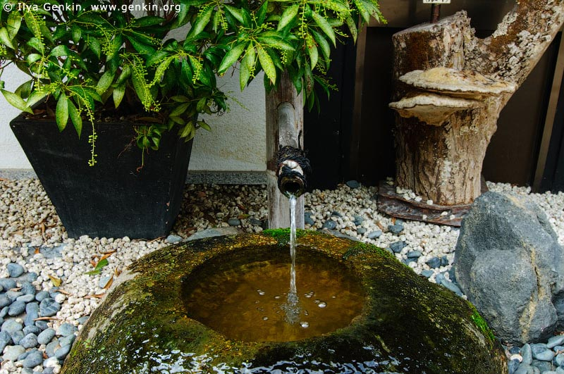 japan stock photography | Water Fountain, Daisho-in Temple, Miyajima, Honshu, Japan, Image ID JPMI0095
