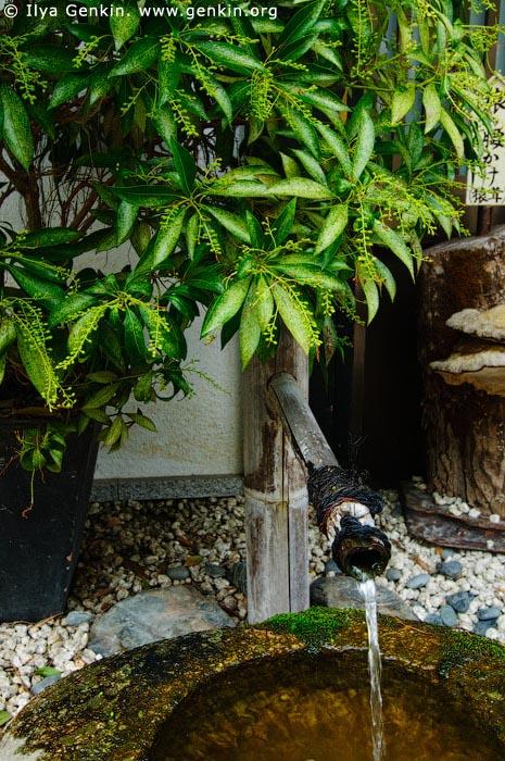 japan stock photography | Water Fountain, Daisho-in Temple, Miyajima, Honshu, Japan, Image ID JPMI0097