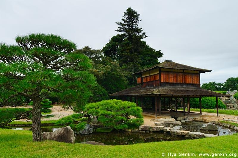 japan stock photography | Ryuten Pavilion, Korakuen Garden, Okayama, Honshu, Japan, Image ID JPOK0001