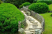japan stock photography | Stairs to the Yuishinzan Hill, Korakuen Garden, Okayama, Honshu, Japan, Image ID JPOK0004.