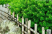 japan stock photography | Fence at the Yuishinzan Hill, Korakuen Garden, Okayama, Honshu, Japan, Image ID JPOK0006.