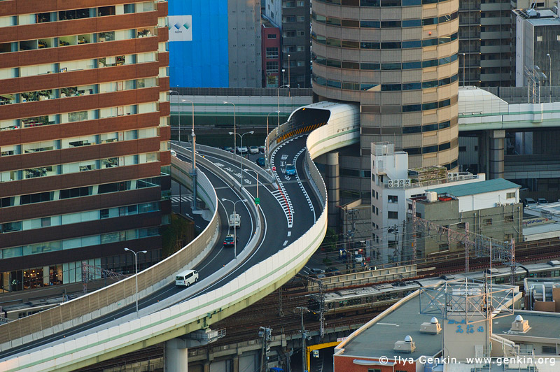 japan stock photography | Gate Tower Building and Hanshin Expressway, Osaka, Kansai, Honshu, Japan, Image ID JP-OSAKA-0003