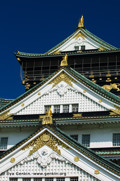 japan stock photography | Main Tower of Osaka Castle, Osaka, Kansai region, Honshu Island, Japan, Image ID JP-OSAKA-0006