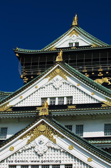 japan stock photography | Main Tower of Osaka Castle, Osaka, Kansai region, Honshu Island, Japan, Image ID JP-OSAKA-0006