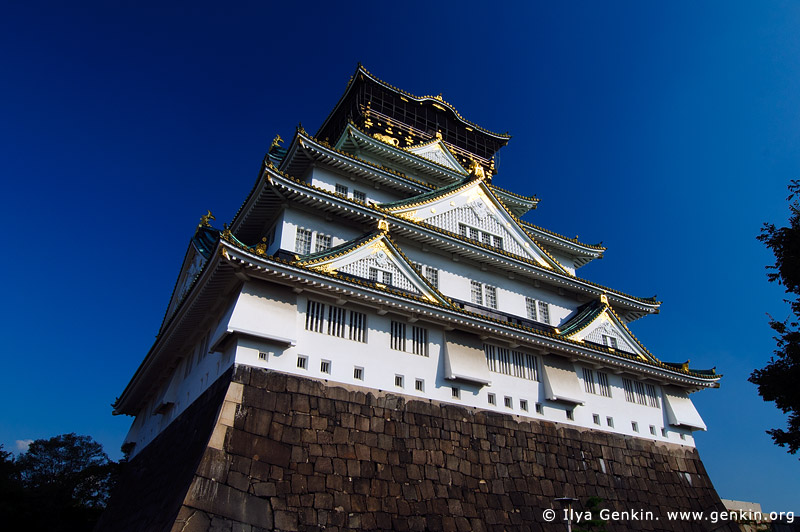 japan stock photography | Osaka Castle, Osaka, Kansai region, Honshu Island, Japan, Image ID JP-OSAKA-0009