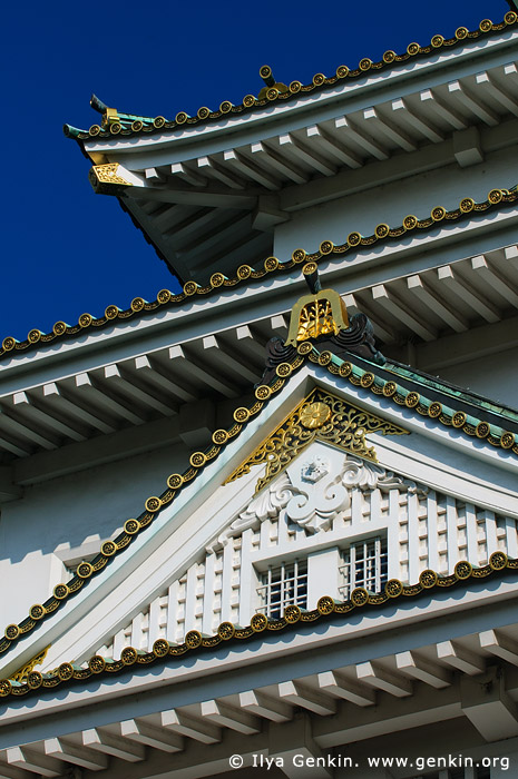 japan stock photography | Main Tower of Osaka Castle, Osaka, Kansai region, Honshu Island, Japan, Image ID JP-OSAKA-0013