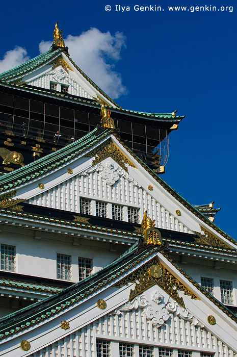 japan stock photography | Main Tower of Osaka Castle, Osaka, Kansai region, Honshu Island, Japan, Image ID JP-OSAKA-0017