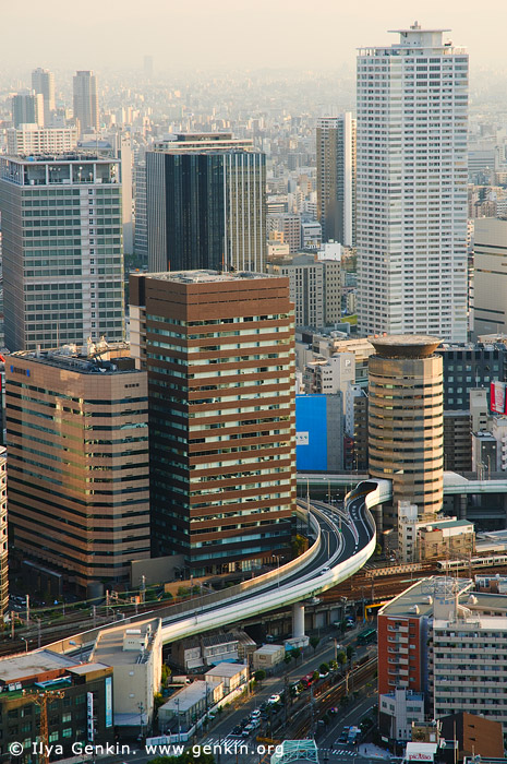 japan stock photography | Gate Tower Building and Hanshin Expressway, Osaka, Kansai, Honshu, Japan, Image ID JP-OSAKA-0023
