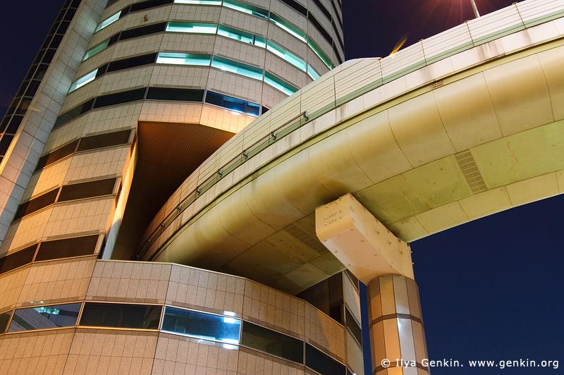 japan stock photography   Gate Tower Building and Hanshin Expressway at Night, Osaka, Kansai, Honshu, Japan, Image ID JP-OSAKA-0030