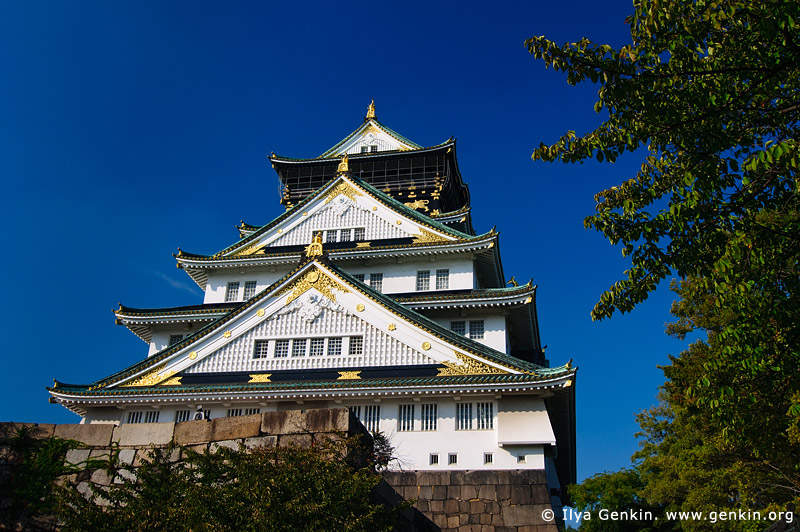 japan stock photography | Osaka Castle, Osaka, Kansai region, Honshu Island, Japan, Image ID JP-OSAKA-0035