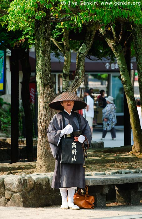 japan stock photography | Monk, Miyajima, Honshu, Japan, Image ID JPPE0001