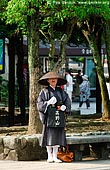 japan stock photography | Monk, Miyajima, Honshu, Japan, Image ID JPPE0001.