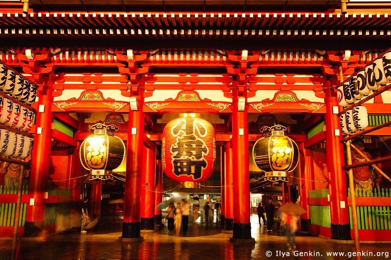 japan stock photography | Hozo-mon Gate at Dusk, Senso-ji Temple, Asakusa, Tokyo, Kanto Region, Honshu Island, Japan, Image ID JP-TOKYO-0003