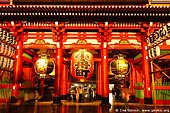 japan stock photography | Hozo-mon Gate at Dusk, Senso-ji Temple, Asakusa, Tokyo, Kanto Region, Honshu Island, Japan, Image ID JP-TOKYO-0003.
