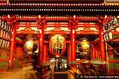 japan stock photography | Hozo-mon Gate at Dusk, Senso-ji Temple, Asakusa, Tokyo, Kanto Region, Honshu Island, Japan, Image ID JP-TOKYO-0004.