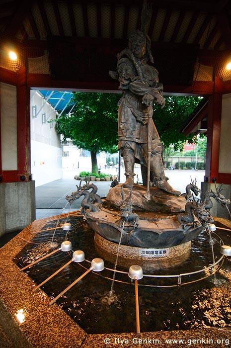 japan stock photography | Tsukubai (Purification Wash Basin) at Senso-ji Temple, Asakusa, Tokyo, Kanto Region, Honshu Island, Japan, Image ID JP-TOKYO-0005