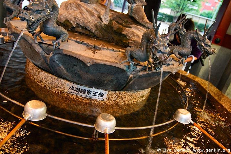 japan stock photography | Tsukubai (Purification Wash Basin) at Senso-ji Temple, Asakusa, Tokyo, Kanto Region, Honshu Island, Japan, Image ID JP-TOKYO-0006