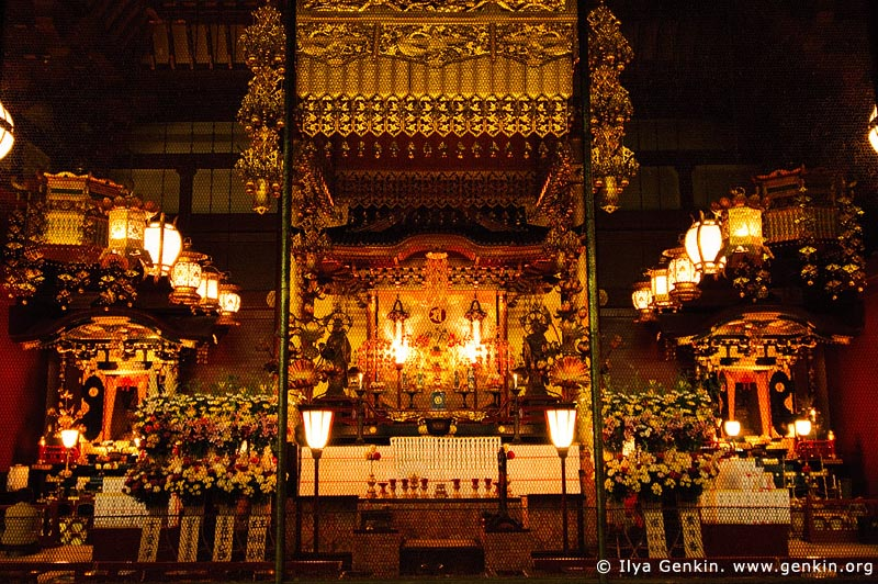 japan stock photography | Senso-ji Temple Interior, Asakusa, Tokyo, Kanto Region, Honshu Island, Japan, Image ID JP-TOKYO-0013