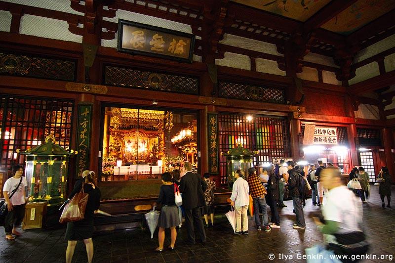 japan stock photography | People Inside Senso-ji Temple, Asakusa, Tokyo, Kanto Region, Honshu Island, Japan, Image ID JP-TOKYO-0014