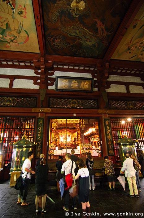 japan stock photography | People Inside Senso-ji Temple, Asakusa, Tokyo, Kanto Region, Honshu Island, Japan, Image ID JP-TOKYO-0015