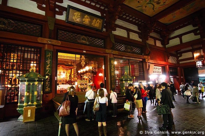 japan stock photography | People Inside Senso-ji Temple, Asakusa, Tokyo, Kanto Region, Honshu Island, Japan, Image ID JP-TOKYO-0016
