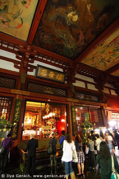 japan stock photography | People Inside Senso-ji Temple, Asakusa, Tokyo, Kanto Region, Honshu Island, Japan, Image ID JP-TOKYO-0017