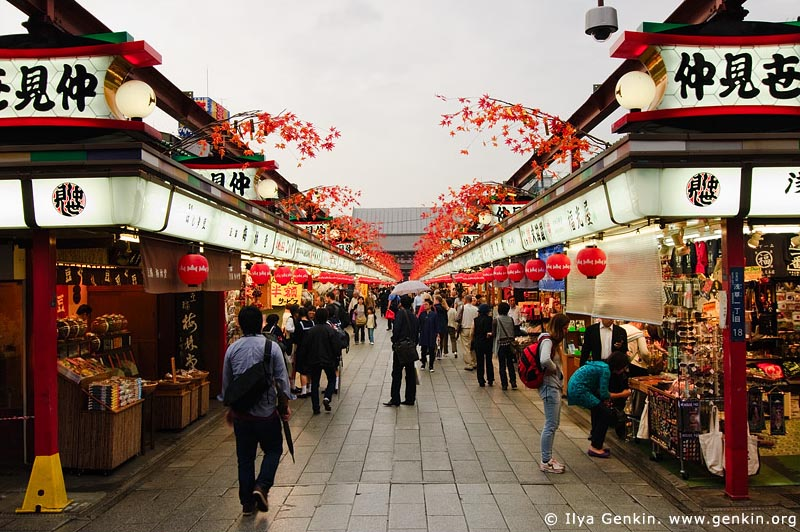 japan stock photography | Nakamise-dori, Asakusa, Tokyo, Kanto Region, Honshu Island, Japan, Image ID JP-TOKYO-0018