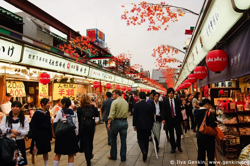 japan stock photography | Nakamise-dori, Asakusa, Tokyo, Kanto Region, Honshu Island, Japan, Image ID JP-TOKYO-0019