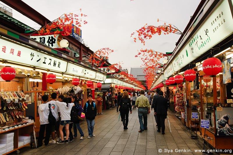 japan stock photography | Nakamise-dori, Asakusa, Tokyo, Kanto Region, Honshu Island, Japan, Image ID JP-TOKYO-0020