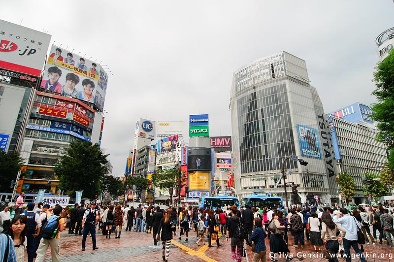 japan stock photography | Shibuya, The Busiest Intersection in the World, Shibuya, Tokyo, Kanto Region, Honshu Island, Japan, Image ID JP-TOKYO-0029
