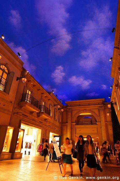 japan stock photography | Venus Fort, a Venice-themed Shopping Mall, Odaiba, Tokyo, Kanto Region, Honshu Island, Japan, Image ID JP-TOKYO-0037