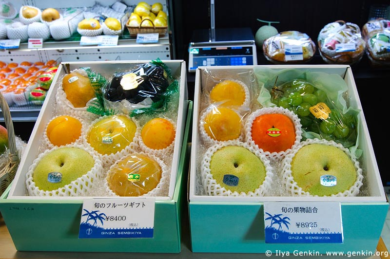 japan stock photography | Incredibly High Priced Fruits in a Department Store., Tokyo, Kanto Region, Honshu Island, Japan, Image ID JP-TOKYO-0040