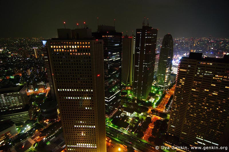japan stock photography | Tokyo at Night, View from Observation Desk at Tokyo Metropolitan Government Building, Shinjuku, Tokyo, Kanto Region, Honshu Island, Japan, Image ID JP-TOKYO-0045