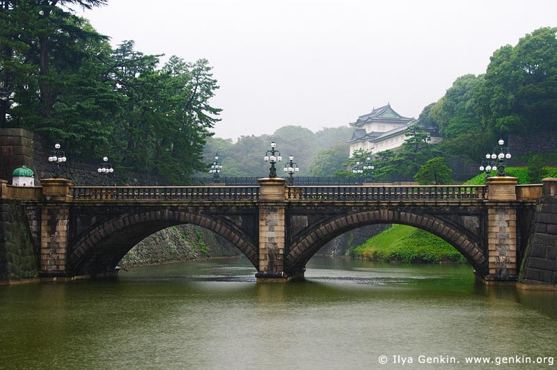 japan stock photography | Tokyo Imperial Palace and Meganebashi Bridge, Tokyo, Kanto Region, Honshu Island, Japan, Image ID JP-TOKYO-0065