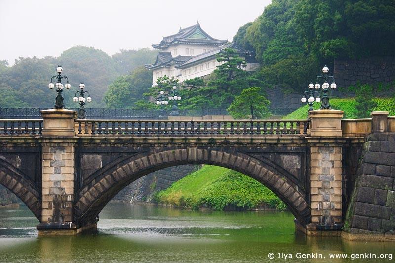 japan stock photography | Tokyo Imperial Palace and Meganebashi Bridge, Tokyo, Kanto Region, Honshu Island, Japan, Image ID JP-TOKYO-0066