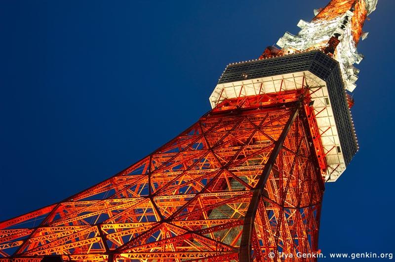japan stock photography | Tokyo Tower at Night, Shiba Park, Minato, Tokyo, Kanto Region, Honshu Island, Japan, Image ID JP-TOKYO-0079