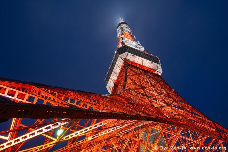 japan stock photography | Tokyo Tower at Night, Shiba Park, Minato, Tokyo, Kanto Region, Honshu Island, Japan, Image ID JP-TOKYO-0080