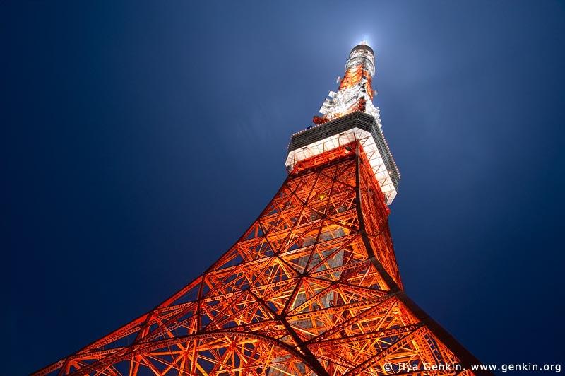 japan stock photography | Tokyo Tower at Night, Shiba Park, Minato, Tokyo, Kanto Region, Honshu Island, Japan, Image ID JP-TOKYO-0081