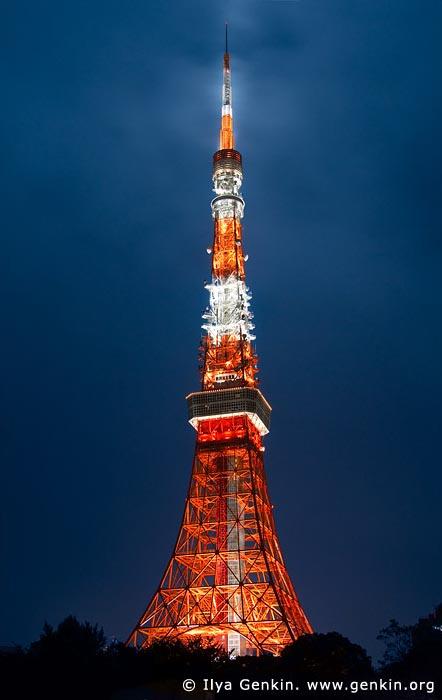 japan stock photography | Tokyo Tower at Night, Shiba Park, Minato, Tokyo, Kanto Region, Honshu Island, Japan, Image ID JP-TOKYO-0082