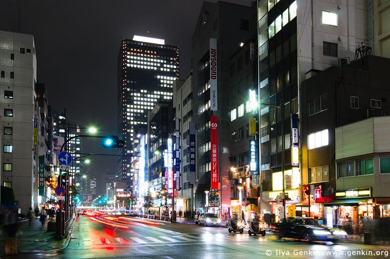 japan stock photography | Tokyo Street at Night, Minato, Tokyo, Kanto Region, Honshu Island, Japan, Image ID JP-TOKYO-0083