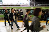 japan stock photography | People Alighting from a Subway Train, Tokyo Subway Train, Tokyo, Kanto Region, Honshu Island, Japan, Image ID JP-TRANS-0004.