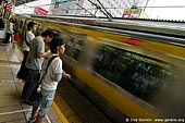 japan stock photography | People are Waiting for Subway Train to Arrive to a Platform, Tokyo Subway Train, Tokyo, Kanto Region, Honshu Island, Japan, Image ID JP-TRANS-0006.